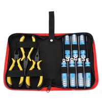 Reusable Screwdriver Bit 10 in 1 Tool Kit Precision Screwdriver Set Pliers with Box