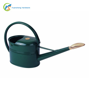 1.3-Gallon/5 Liter Green Galvanized Watering Can with Oval Rose