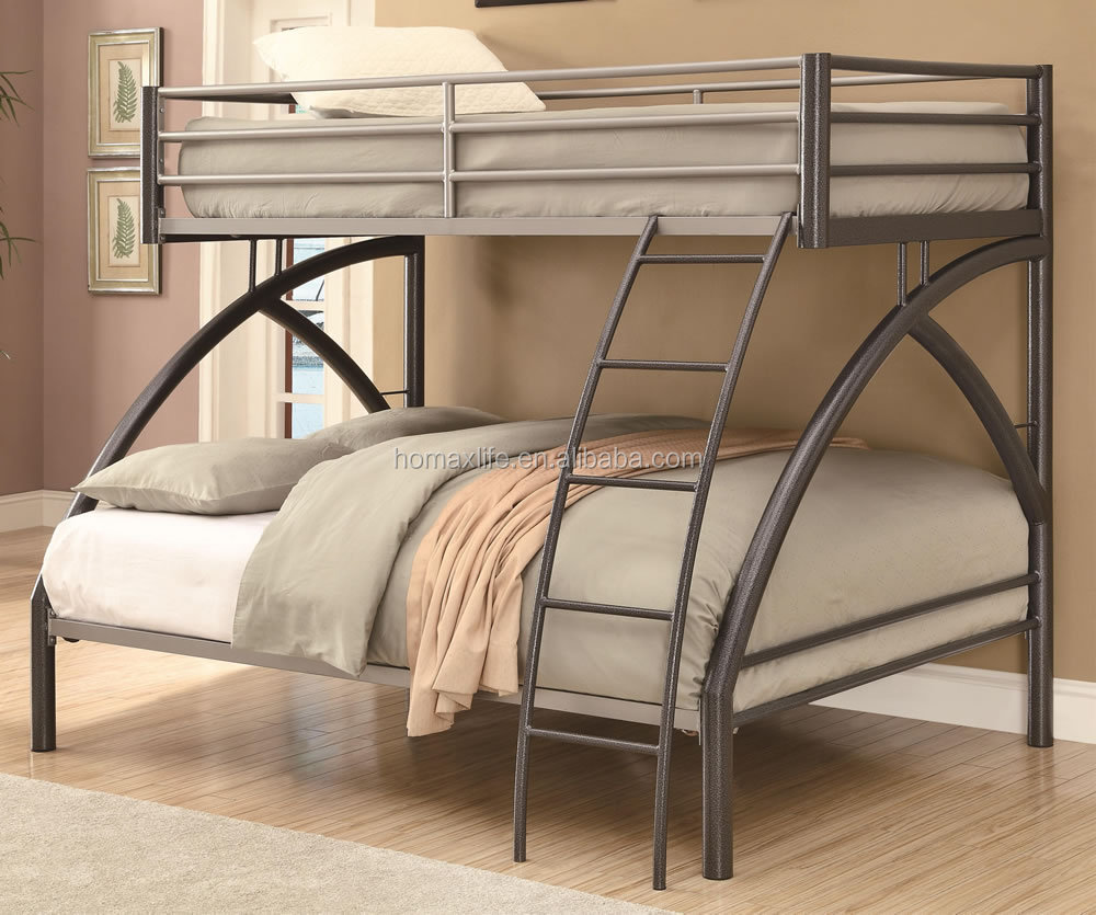 School Military Bunk Beds Double Decker Metal Frame For