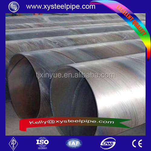 API 5L GR B Large diameter SSAW Polyethylene Lined Steel Pipe, API 5L Drainage Pipelines Black SSAW steel pipe