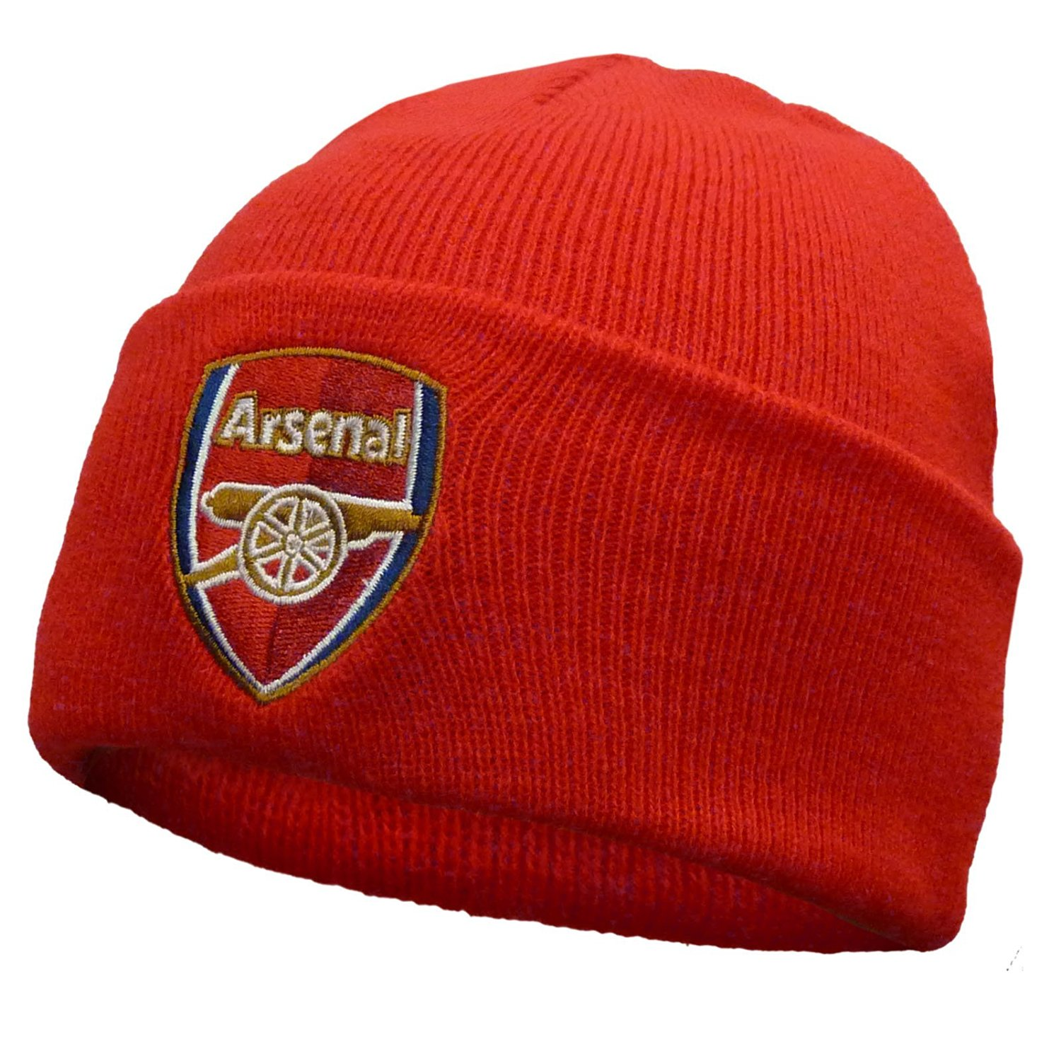 3479ef03f42 Get Quotations · Arsenal Football Club Official Soccer Gift Knitted Bronx  Beanie Hat