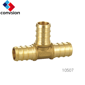 Yuhuan Junxiang hot sale npt male thread lead free brass equal tee