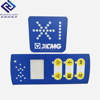 PET/PC Material Metal Dome Embossed on off Membrane Switch/Keypad