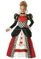 2016 HOT girls one piece girls party dresses Alice in Wonderland queen of hearts halloween and carnival cosplay costume