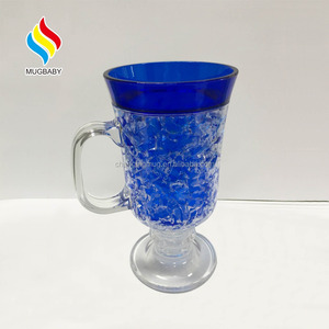 Plastic Double Wall Freeze Gel Mug Ice Cup With Gel