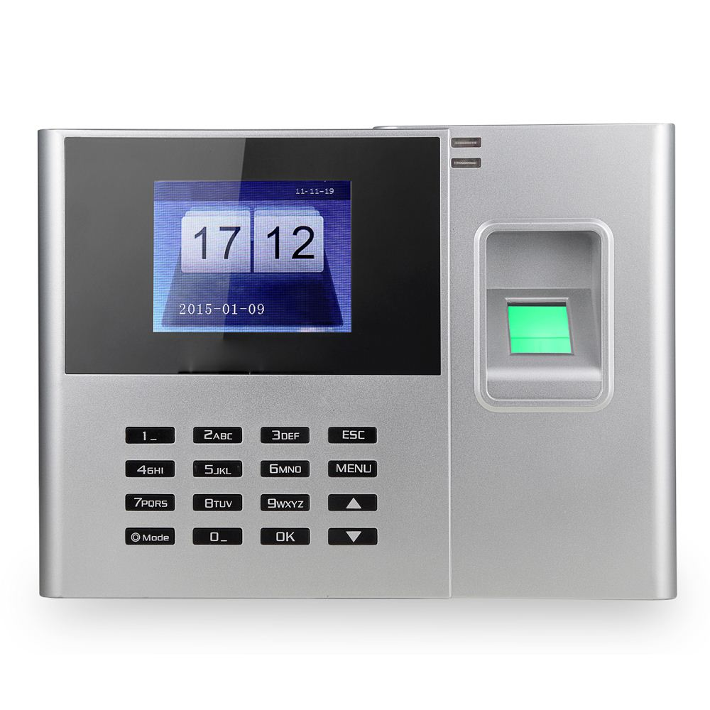 Biometric Fingerprint Password Attendance Machine Employee Checking-in Recorder 2.8 inch TFT LCD Screen Time Attendance Clock