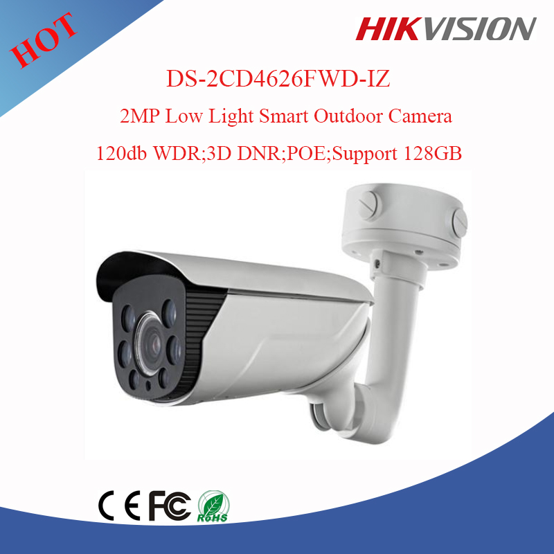 2017 Most fashion Hikvision 2mp smart Camera .bullet ip camera Vari-focal Camera with Behavior Analysis DS-2CD4626FWD-IZ
