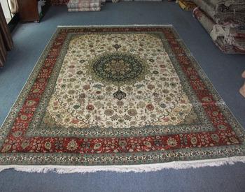 Hereke Silk Rug Carpet Iranian