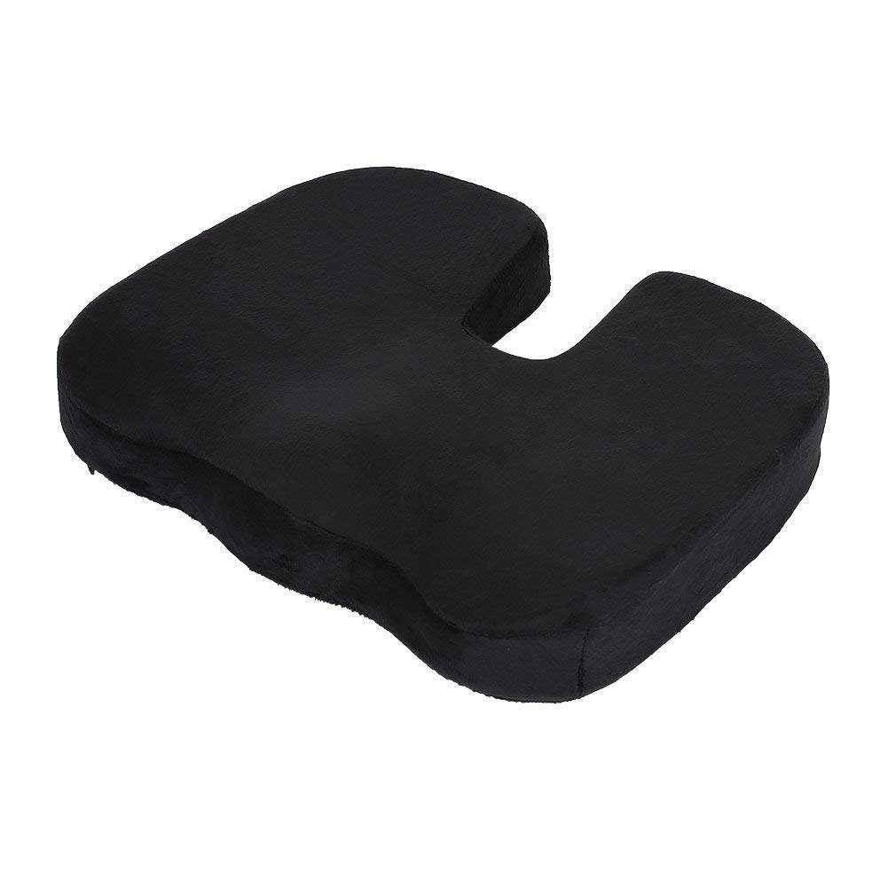BigFamily Office Chair Memory Foam Coccyx Orthoped Seat Pad Support Lumbar Cushion