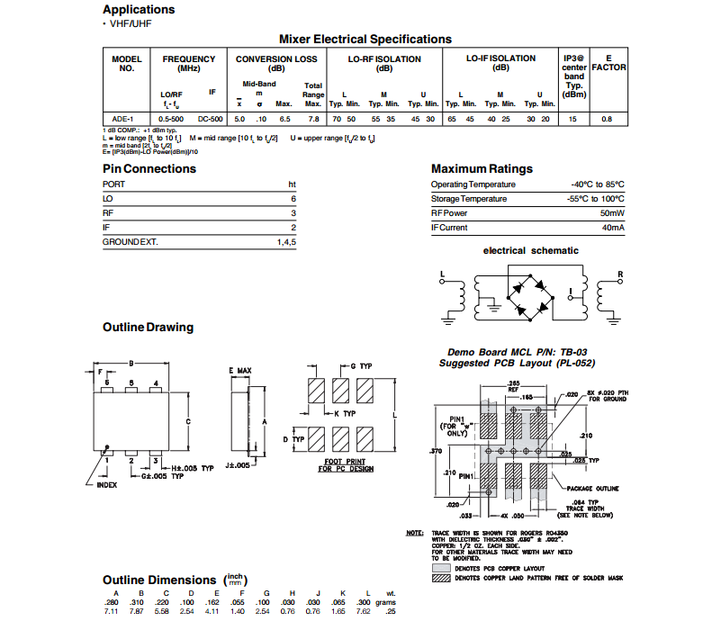 Ade-1+ Rf Microwave Double Balanced Mixer,Mini Ciruits Ade-1 - Buy Rf  Microwave,Mini Digital Mixer,Mini Audio Mixer Product on Alibaba com