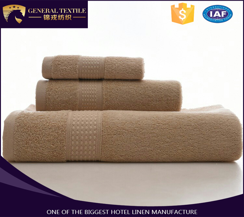 high quality egyptian cotton brown towel set for hotel