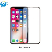 custom size 9h 3d mobile phone toughened film reusable protective glass packaging for iphone xs for iphone xr for iphone xs max