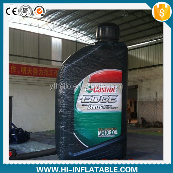 2015 Hot sale inflatable motor oil bottle,inflatable replicas model,inflatable model for advertising/inflatable advertising