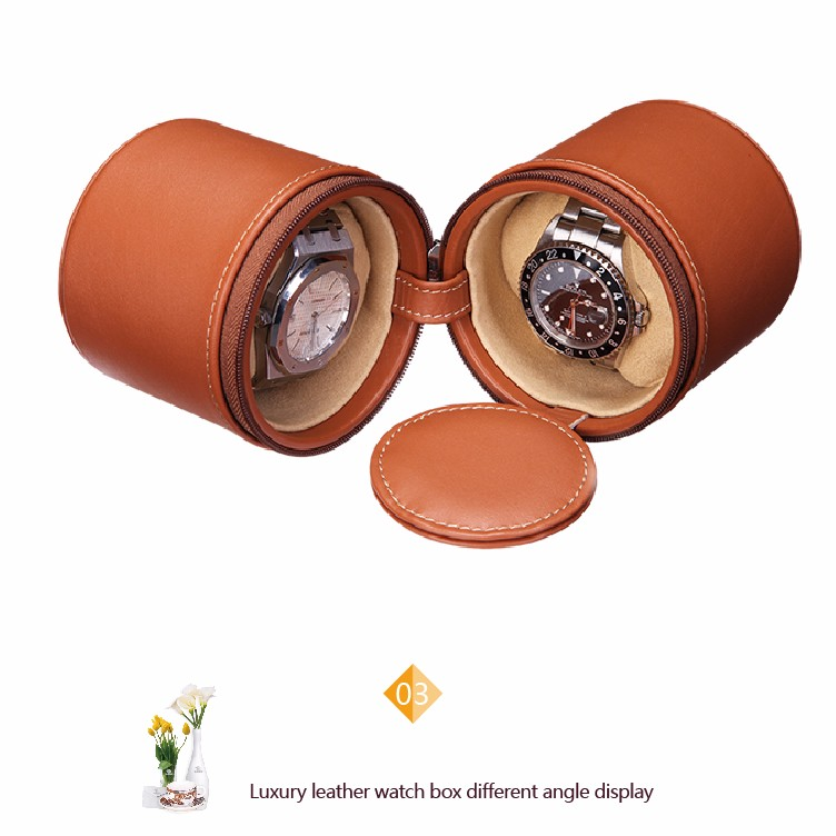 vding from China professional supplier of high quality round leather watch storage
