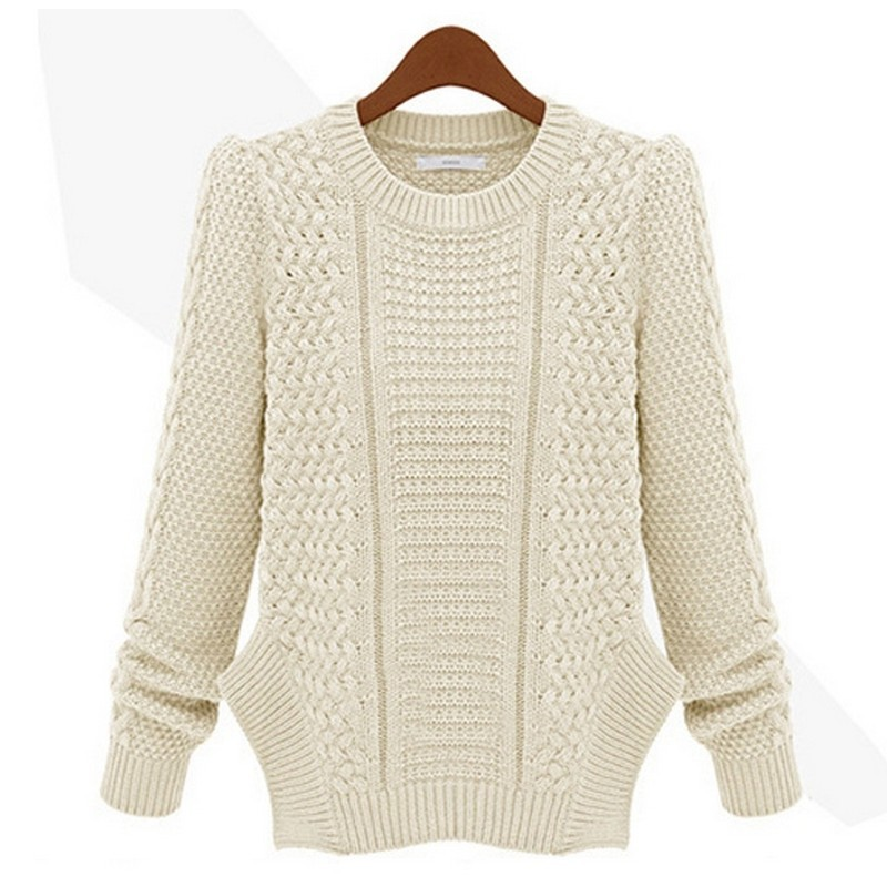 2015 Autumn Winter Women Sweater Long Sleeve Asymmetric Hem Female Knitted Sweaters And Pullovers Jumper Knitwear Coat 9SJM