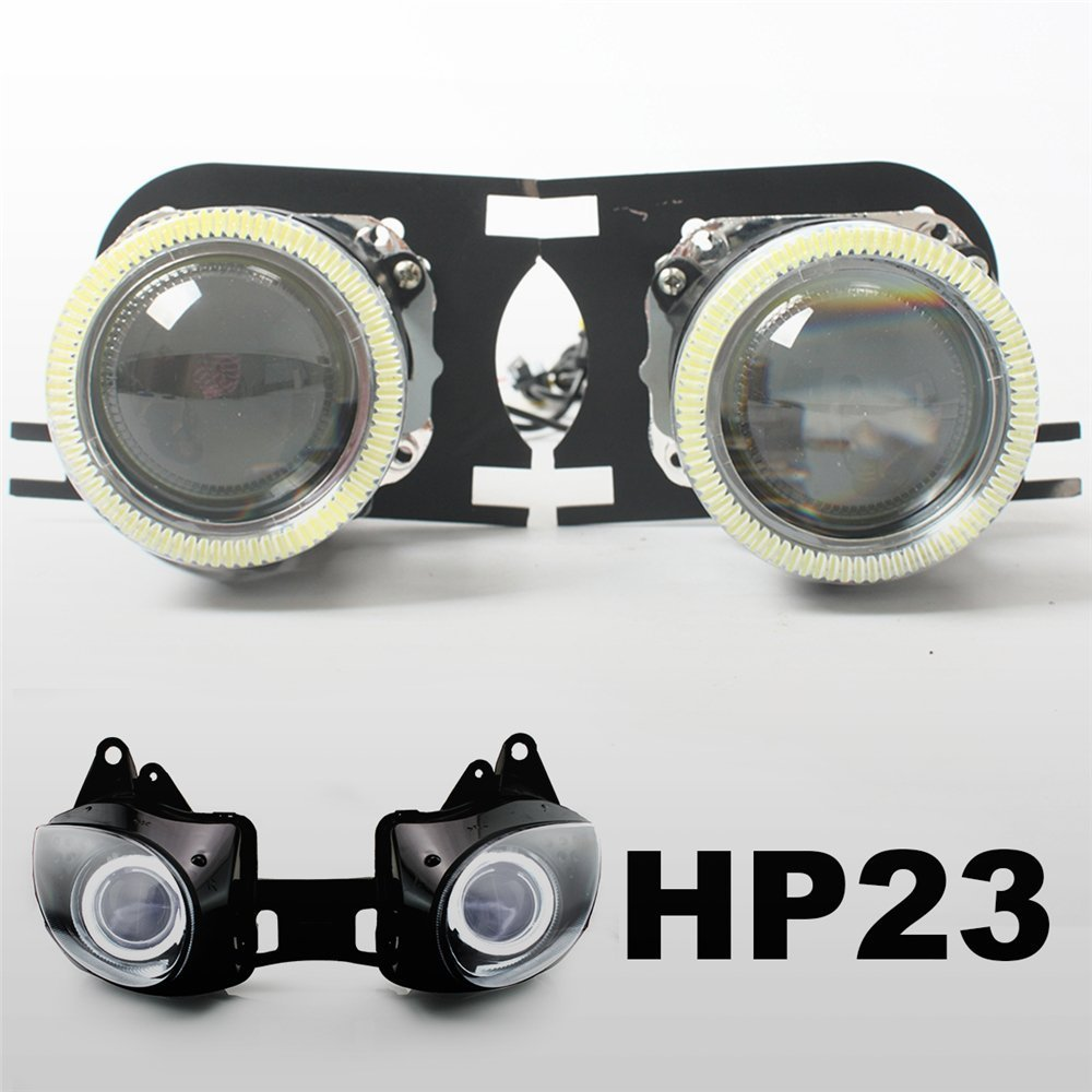 KT Tailor-Made HID Projector Kit HP23 for Kawasaki ZX-6R 2007-2008 White Angel Eye