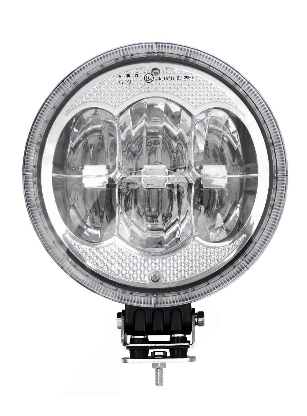 "7"" Emark ECE R112 LED driving light 60W with daytime running light ring for European public road driving by law,with angle eyes"