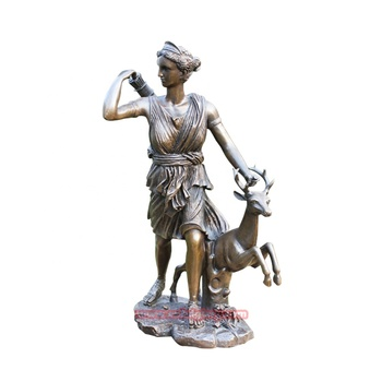 Metal Material bronze Ancient Greek mythical figure Artemis statue