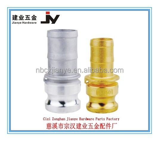 Aluminum Cam lock Coupling Type E Male Adapter X Hose Shank