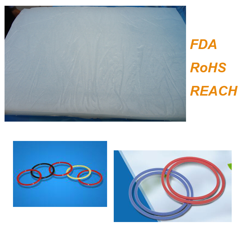 Good Quality Solid Silikon Rubber for Sea Rings Keypad HTV with FDA ROHS REACH