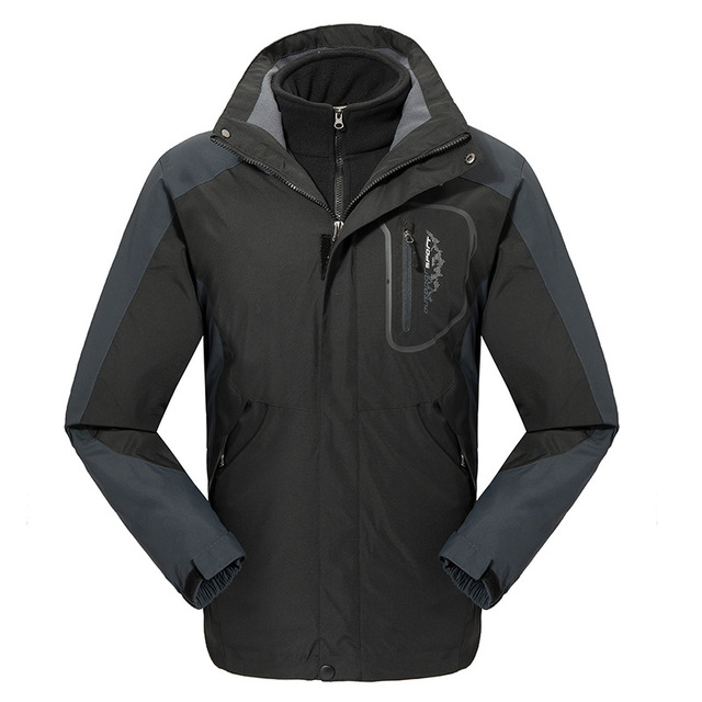 High Performance Mens Outdoor Jacket Waterproof Jacket 3 in 1 Jacket