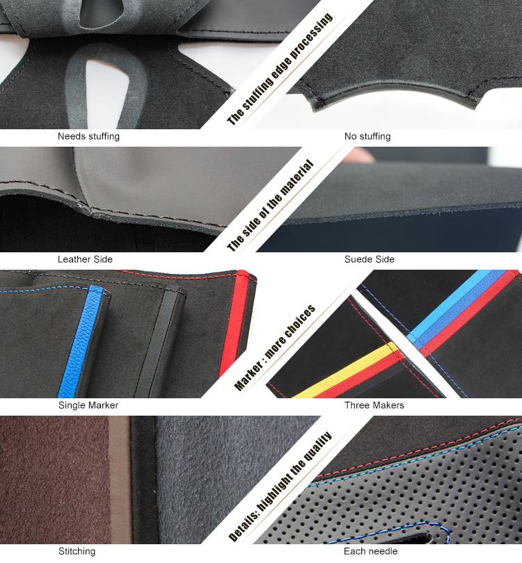 Couture à la main En Cuir Couverture De Volant De voiture pour Volkswagen Golf 4 Passat B5 Polo Seat Leon 1996 1997 1998 1999 2000 2001 2002 2003