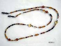 Eyeglass chains, bead sunglasses retainer strap, braided lanyard
