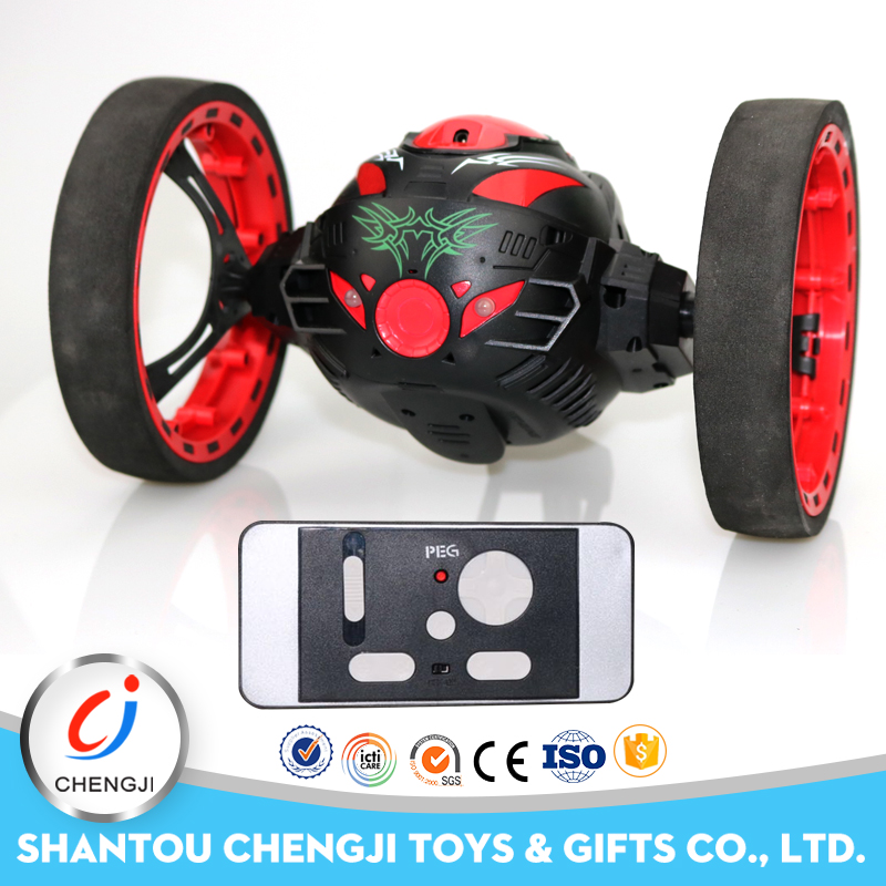 Fancy design intelligence bounce stunt monster rc wifi car with camera