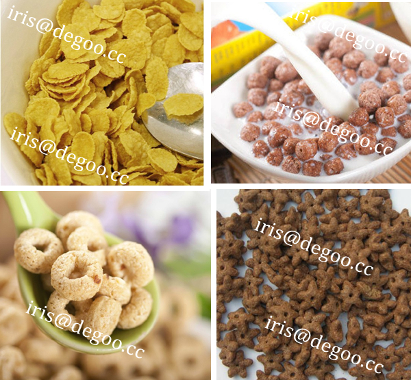 Cooking instant cereal food making extruder machine/Frosting corn flakes processing equipment/Extruded flakes food manufacturer