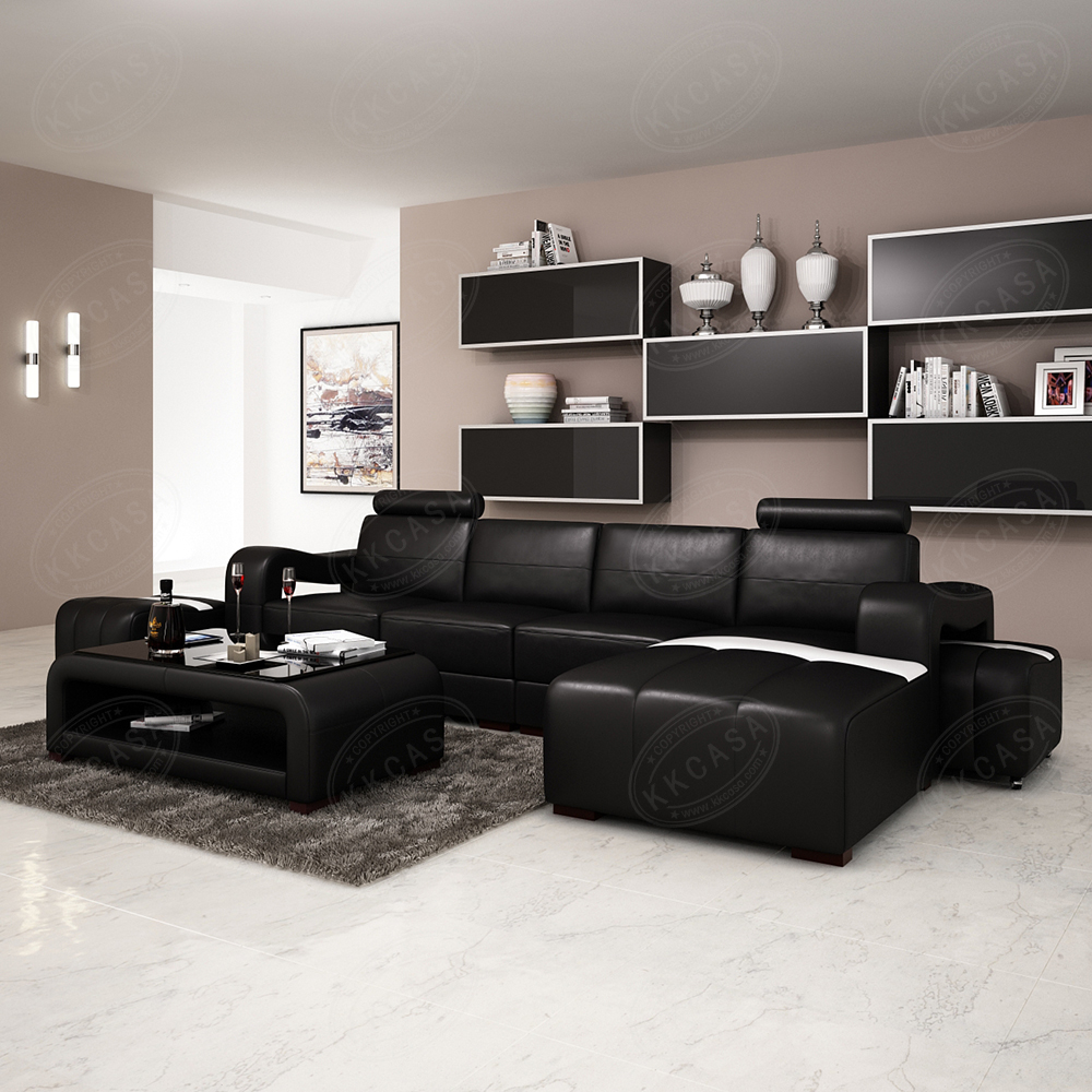 China furniture dubai living room modern italian genuine leather cover sofa set