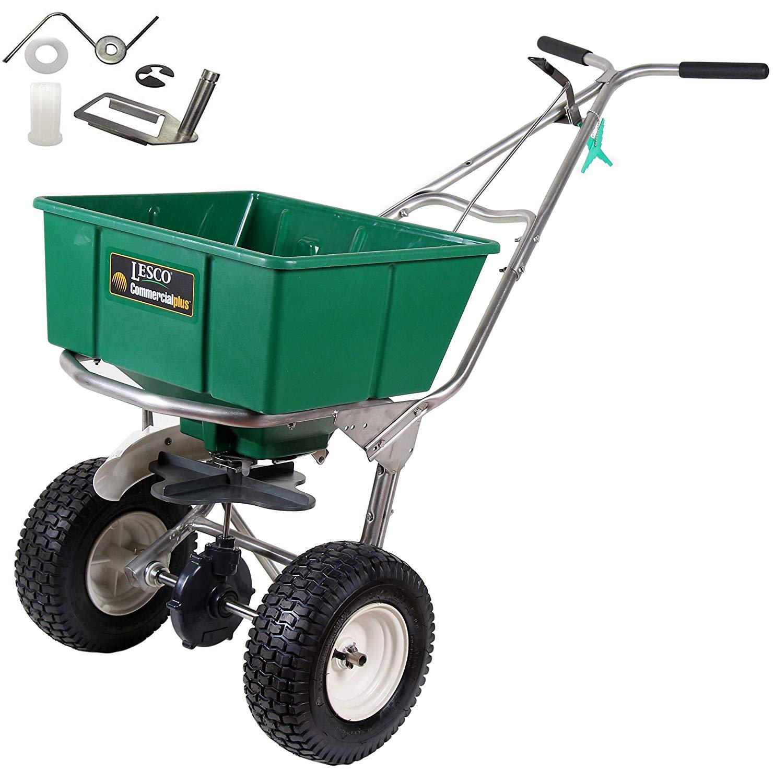 Get Quotations Lesco 101186 High Wheel Walk Behind Fertilizer Spreader With 092463 Agitator Repair Kit Bundle