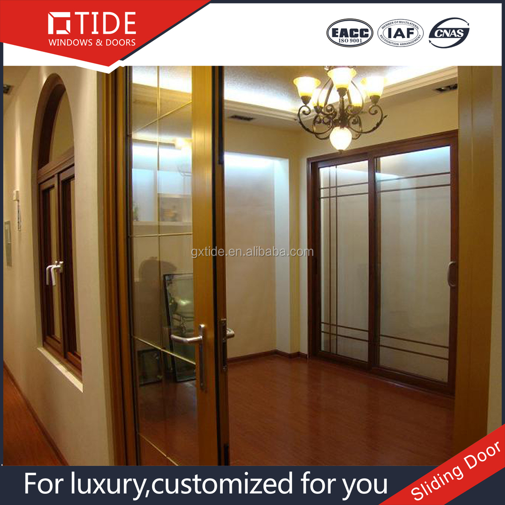 Interior position main door aluminum sliding door wood for Sliding door for main door