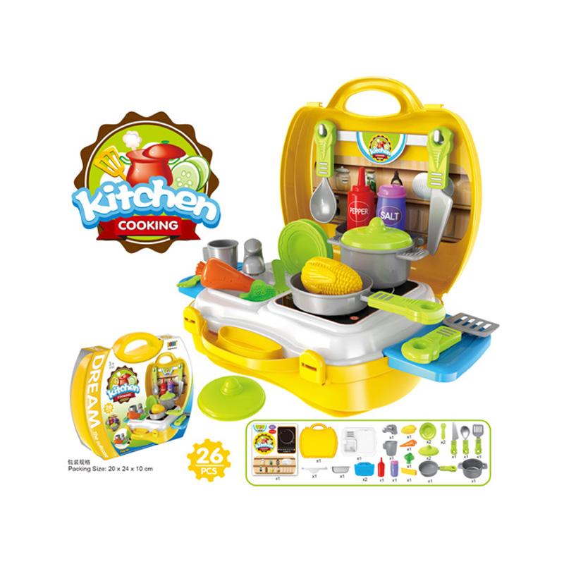 Kitchen toy set plastic indoor pretend play children toys cooking game toy set