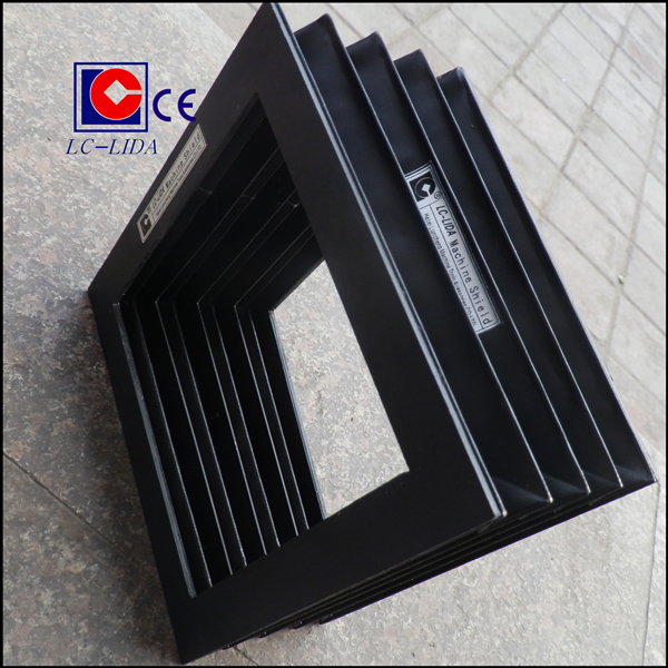 Cnc flexible accordion square rectangular rubber bellows