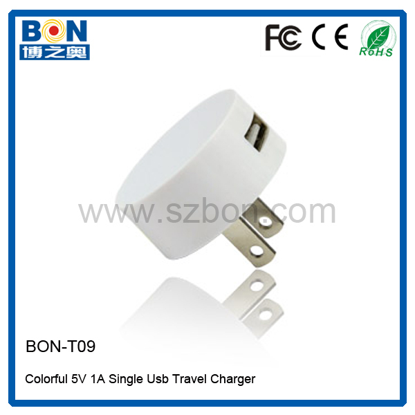 Easy taking and cute mobile charger power one usb wall adapter charger