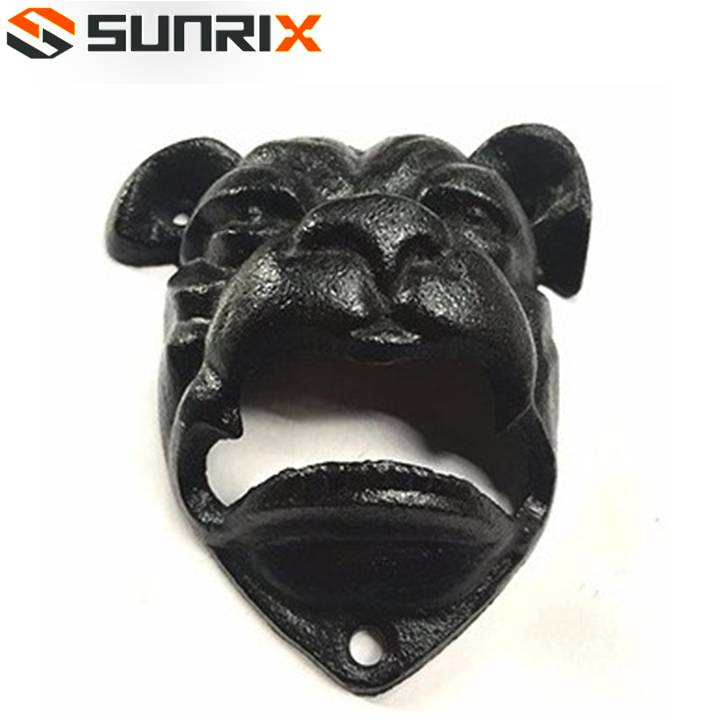 New fashionable stylish custom bulldog cast Iron opener bottle