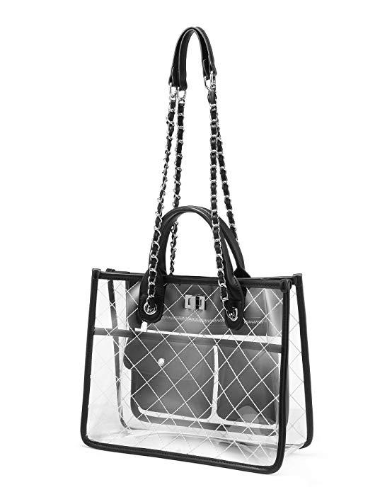 Изготовленный На Заказ Прозрачный с принтом из ПВХ пластиковый Модный Сумка-тоут