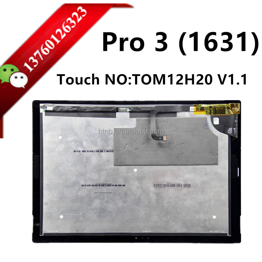 Black touch screen digitizer lcd display LCD assembly TOM12H20 V1.1 pro3 pro 4 touch screen For Microsoft Surface Pro 3 1631