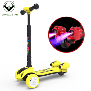 China import scooters foldable children scooter with led lights