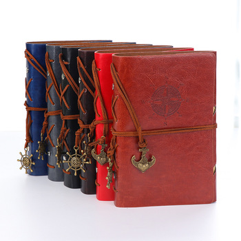 custom hardback blank A5 leather diary notebook