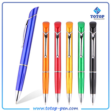 custom led common used standard 3 colors plastic pen