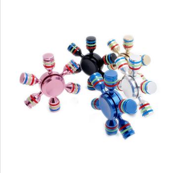Molecule Hand Spinner Toys 2017 Popular Gift 6 Aim Fid Spinner