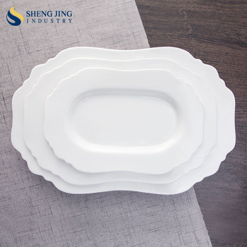 Antique Chinese Ceramic Dishes Oval Shape Tableware Hotel Crockery Custom Design Plates : antique chinese plates - pezcame.com