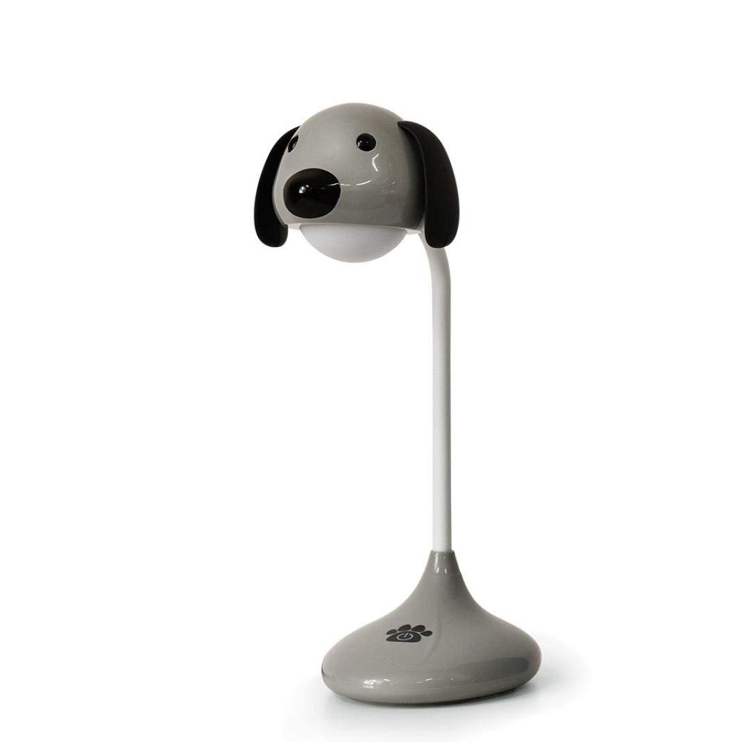 Caopixx Home Decor Night Light,Caopixx Puppy Night Light USB Dimmable Bedside LED Table Reading Lamp (Gray)