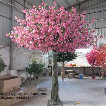 Restaurant Decoration Artificial Sakura Tree Pink Cherry Blossom