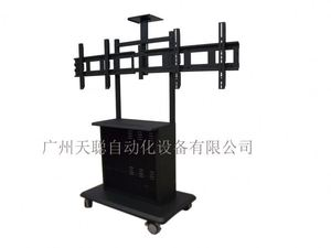 3 Years Warranty Conference Room Equipment Silver Glass Mirror Tv Stand