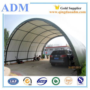 dome PVC fabric 40foot container shelter