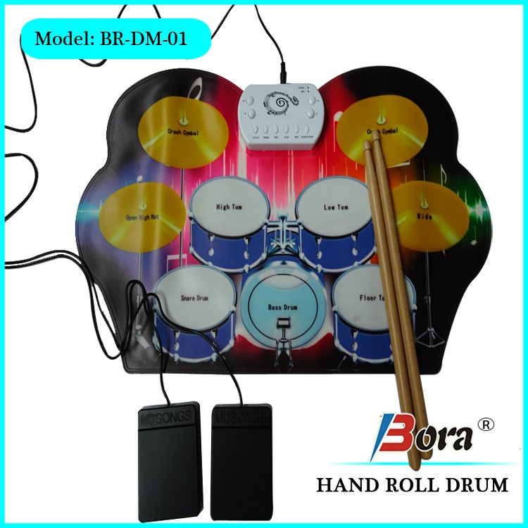 Flexible electric drum for children wholesales usb roll up drum kit software download
