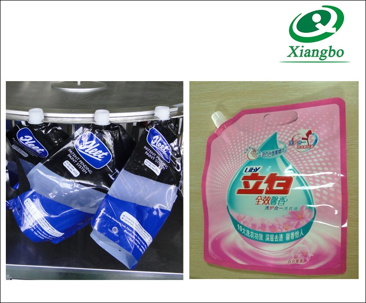 XBGZX-4X Full Auto Acidophilus Milk Spout Pouch Filling and Capping Machine