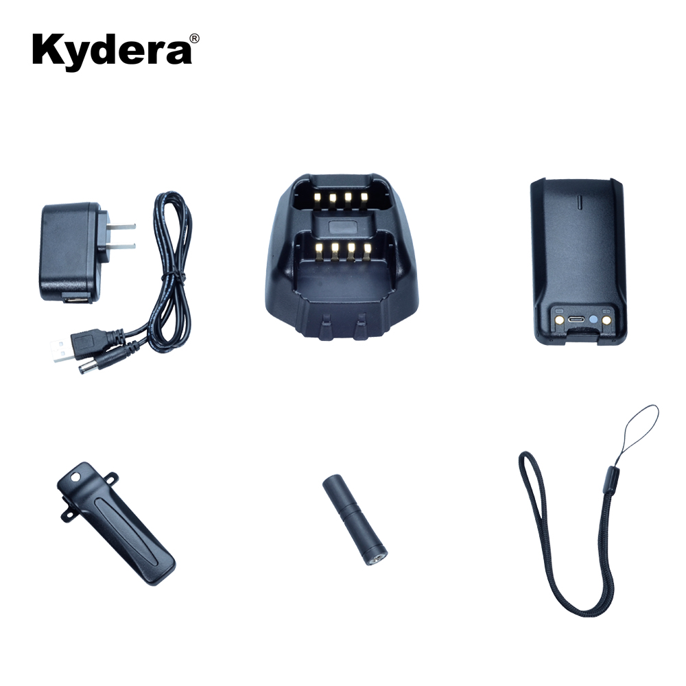 Kydera 4g LTE DMR two way radio + Analogico Della Polizia a portata di mano talkie walkie